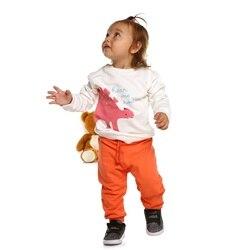HelloBaby/Базовые хлопковые брюки для маленьких девочек и мальчиков