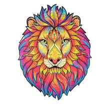 Unique Wooden Animal Jigsaw Puzzles Mysterious Lion Puzzle Gift For Adult Kids Educational Fabulous Gift Interactive Games Toy