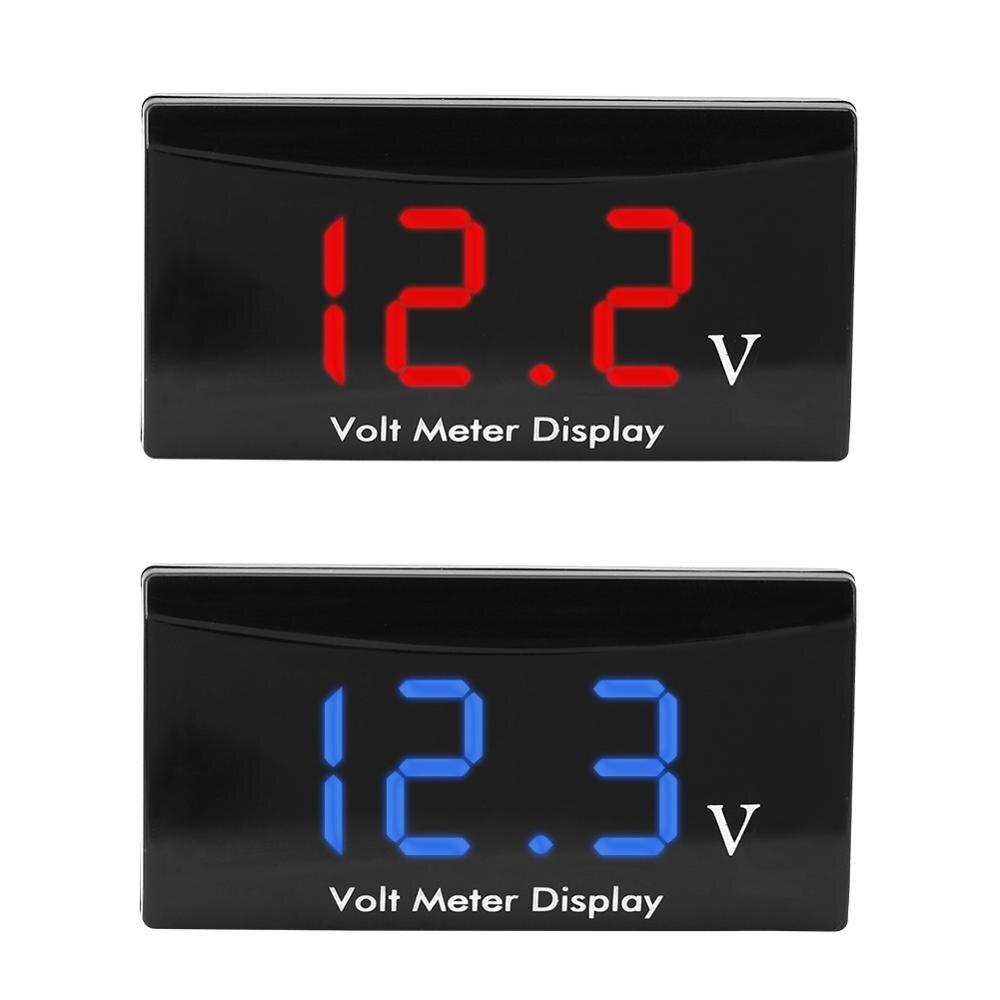 Red 12V Car Motorcycle Digital LED Display Voltmeter Voltage Volt Gauge Panel Meter Voltmeter