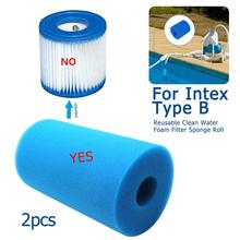 Sponge POOL-FILTER Swimming-Pool-Accessories Intex-Type Washable-Cleaner 2pcs Reusable