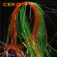 Tinsel Fly-Tying-Materials ICERIO Streamers Flash Nymph Crystal Mirage-Flashabou Ice-Wing
