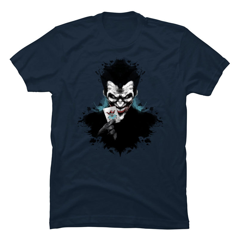 Joker_Ink_963 Crewneck T Shirts Summer/Autumn Tops Tees Short Sleeve Cute 100% Cotton Funny T-shirts Party Mens Joker_Ink_963 navy