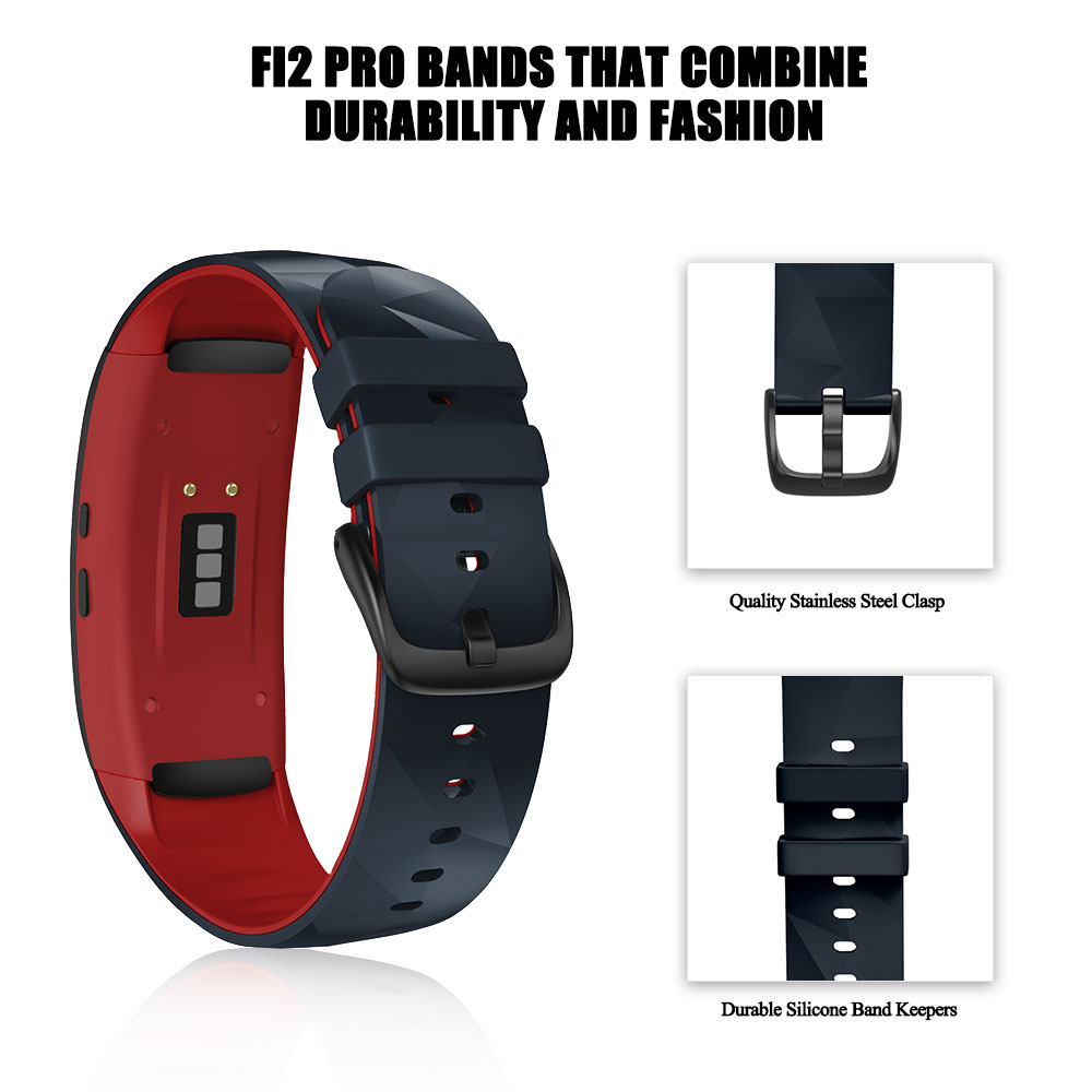 ANBEST Compatible for Samsung Gear Fit 2 Pro Strap Silicone fitness Watch Band for Samsung Gear Fit 2 Pro SM-R360 Watch Band