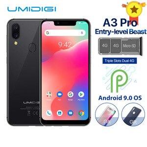 UMIDIGI A3 Pro смартфон с 5,7-дюймовым дисплеем, ОЗУ 3 ГБ, ПЗУ 32 ГБ, 12 МП, 5 Мп