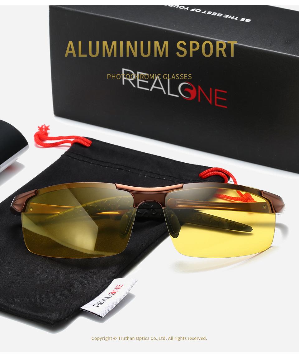 Polarized Photochromatic Sunglasses Night Vision Outdoor Sport Transition Lens