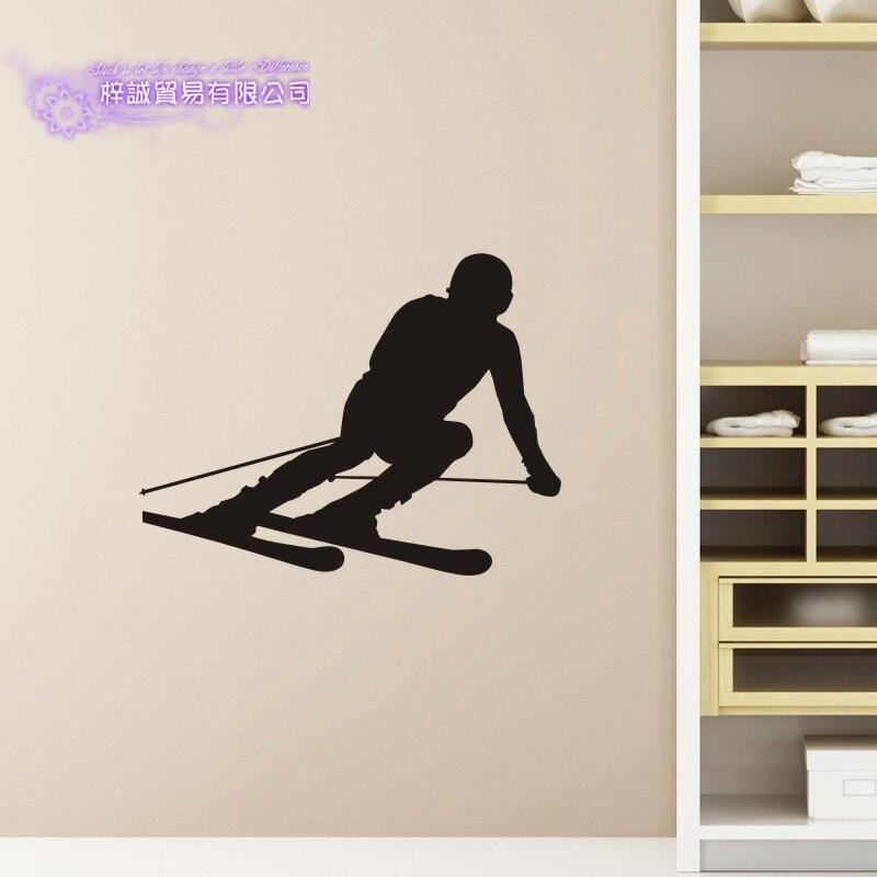 DCTAL Ski Car Sticker Snowboarding Decal Skiing Skating Posters Board Vinyl Wall Decals Pegatina Decor Mural Ski Sticker