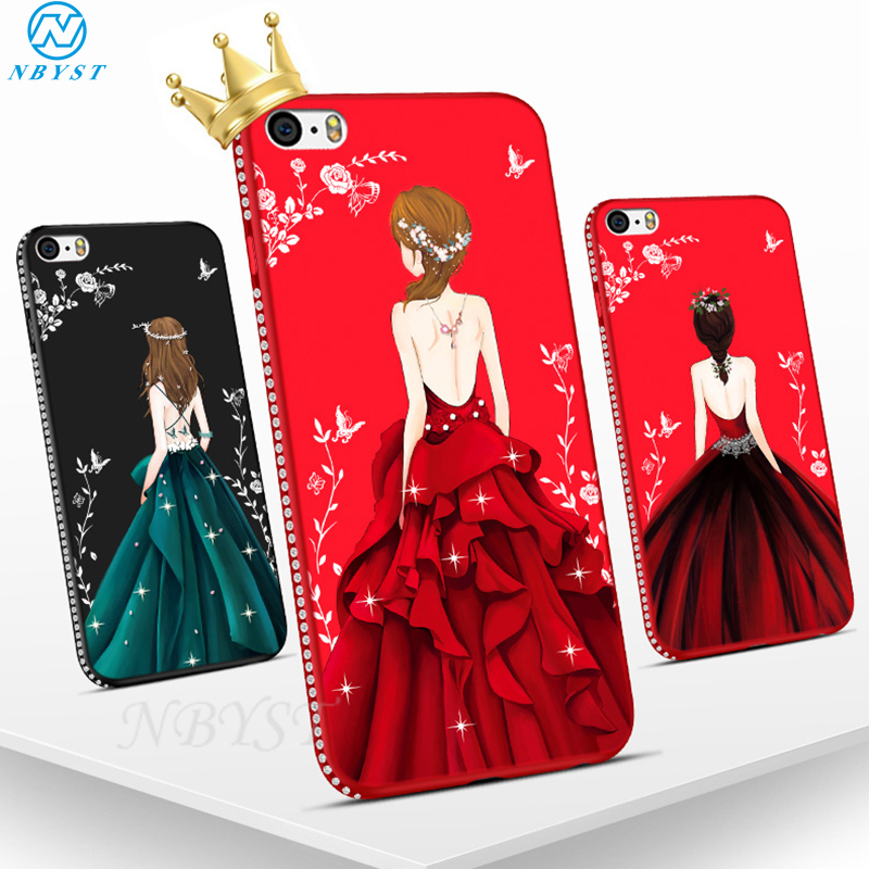Чехол со стразами для Xiaomi Mi Note10 9T CC9e Pro A3 Lite Goddess Girl Dress чехол Redmi K30 K20 Note 8 8A 8T 7 7A 6 6A 5 5A