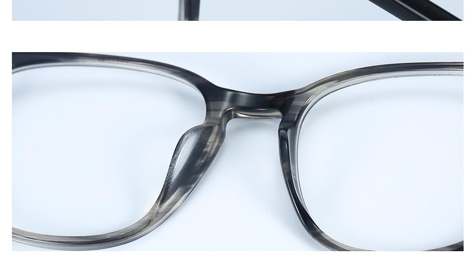 ZENOTTIC Transparent Glasses Frame Men Prescription Glasses Lenses Acetate Glasses Man Frames Optical Myopia Eyeglasses (11)