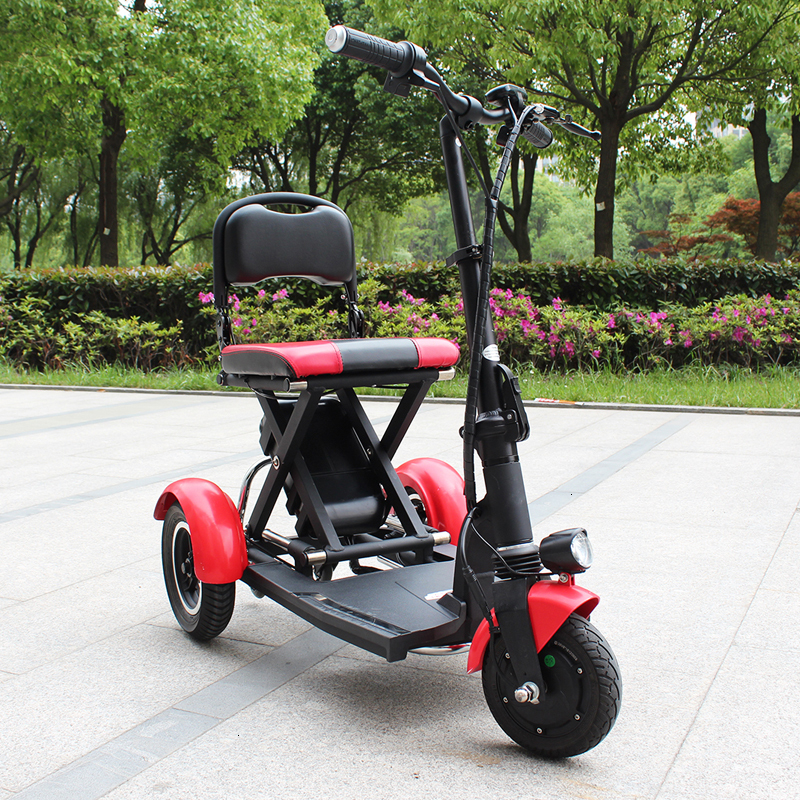 Electric Kick Scooter Adult Three Wheel Electric Scooters Tricycle 36V 300W Portable Folding Electric Elderly Scooter (15)