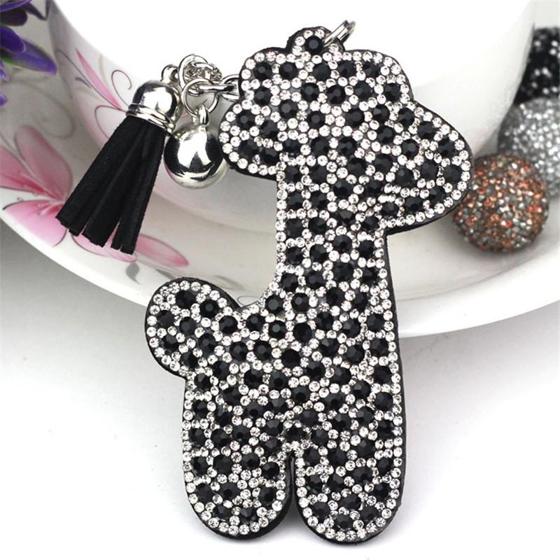 Baby Giraffe keychains 3 Choice ColorsRhinestone