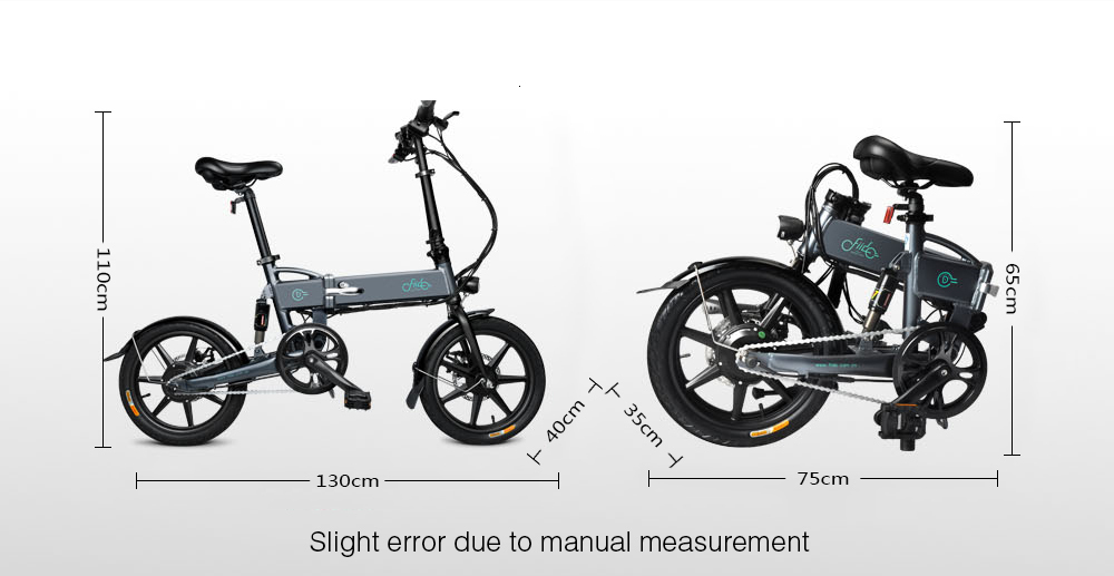 16 Inch Fiido D2 Adult Electric Bicycle 2 Wheels Electric Bicycle Mini 250W Folding Portable Electric Bike (1)