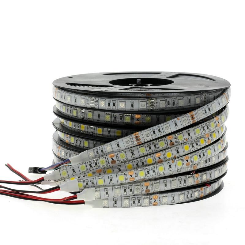 RGB Светодиодная лента светильник 5050 2835 DC12V неоновая лента водонепроницаемая гибкая светодиодная Диодная лента 60 светодиодов/м 5 м 12 В Светодиодная лента для украшения дома