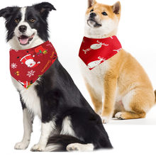 Christmas Pet Dog Collar Puppy Bandana Xmas Gift Bibs Scarf Collar Adjustable Pet Neckerchief Saliva Towel For Small Large Dogs(China)