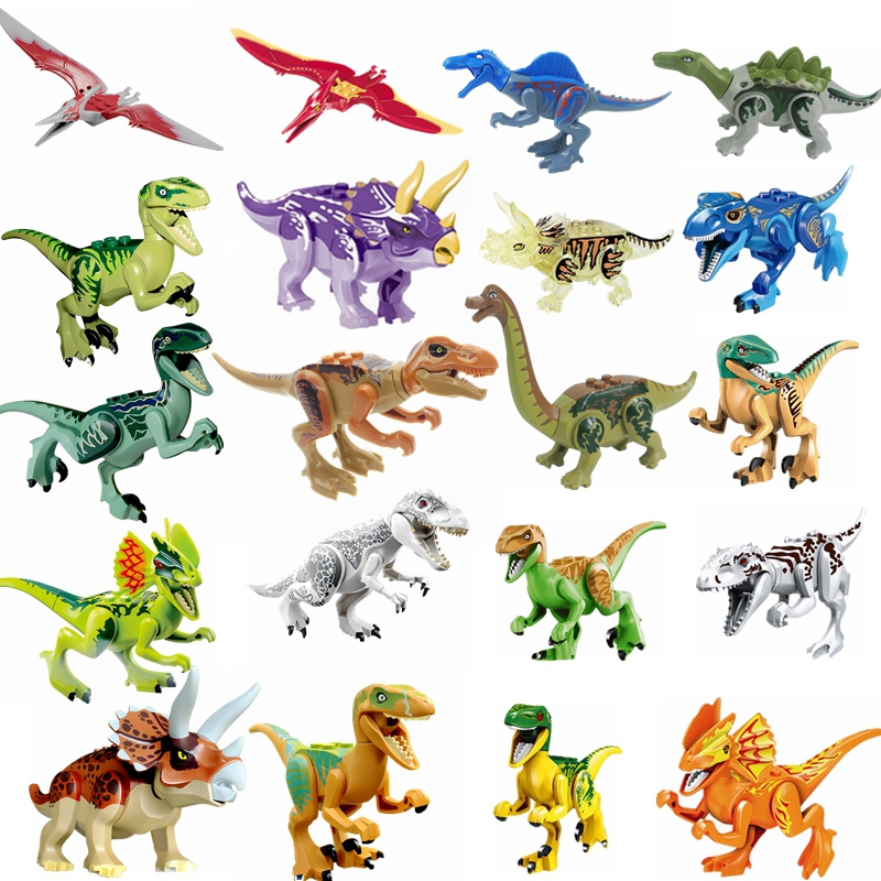 Newly Sold Jurassic Dinosaur Series Building Block Tyrannosaurus Triangle Dragon Sword Dragon Model Toys & Hobbies Children Gift
