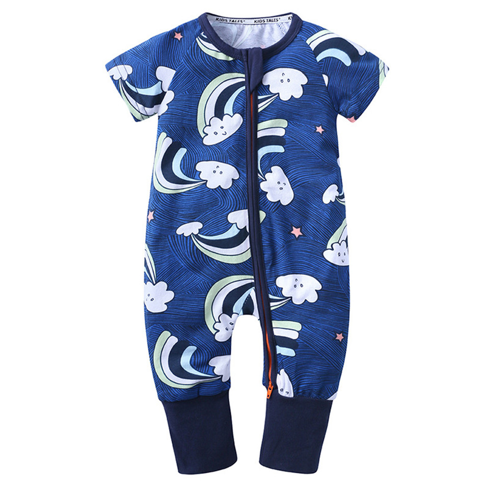 Summer SURF Newborn Infant Baby 100/% Organic Cotton One-Piece Coverall 0-2T
