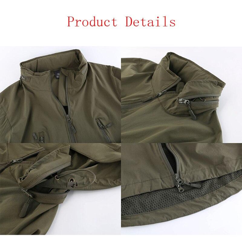 Military Waterproof Softshell Tactical Jacket Men Hooded Windbreakers Raincoat Hiking Camping Hunting Trekking Jacket Man Coat