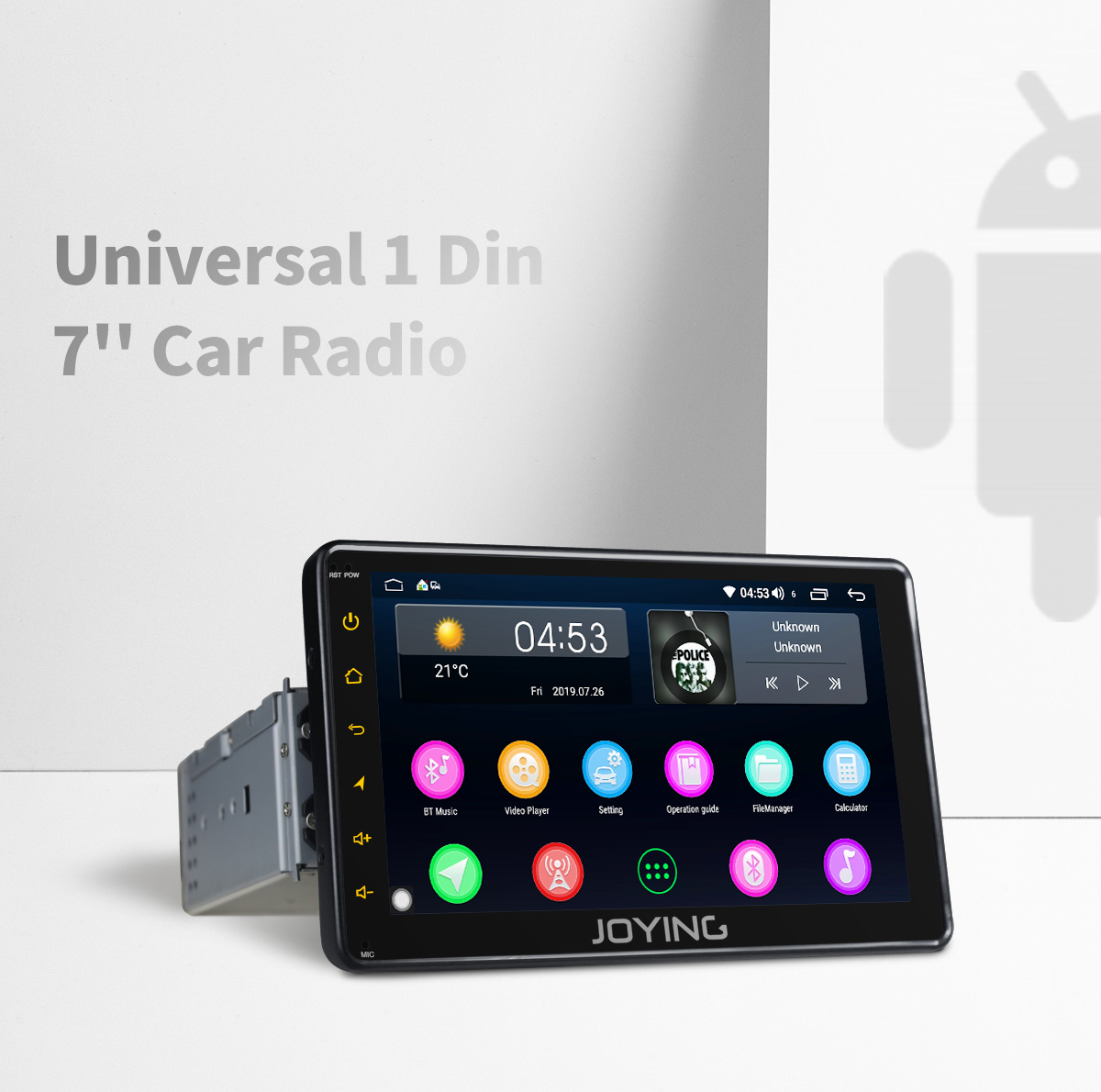 "Best JOYING 7"" Android 8.1 1 din Car Radio 2GB+32GB Octa Core GPS DSP universal head unit stereo autoradio SWC Fast Boot Mirror link 0"