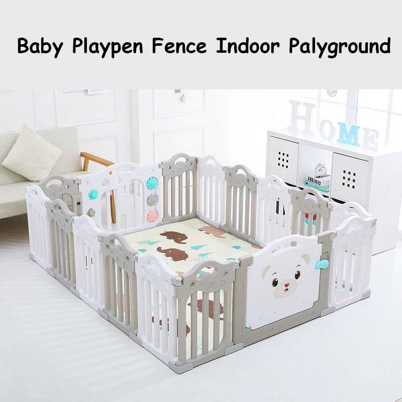 Baby Playpen Fence Park Guardrail Safe Yard Palyground Kids Indoor Game 14pieces/Set title=