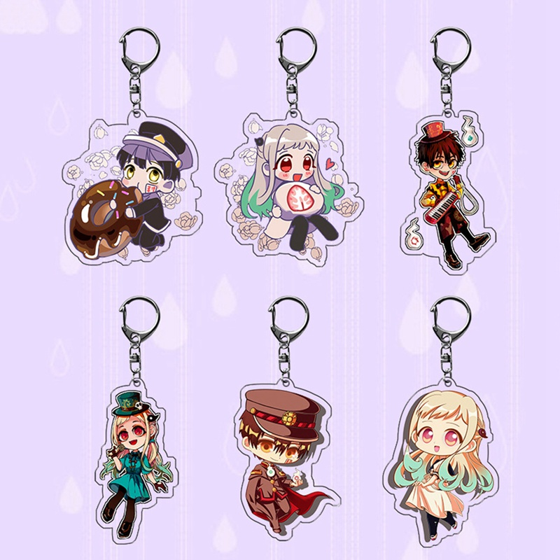 Toilet-Bound Hanako-kun Two-sided Acrylic Keychain Cosplay Anime Pendant Keyring Key Chains