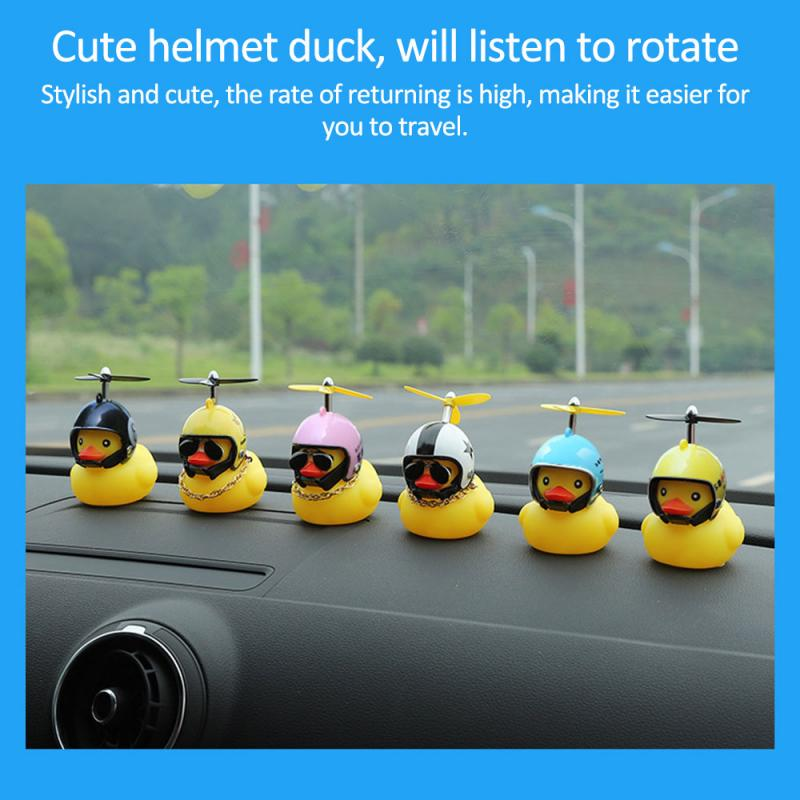 Car-Ornament Helmet Bicycle-Accessories Duck Yellow Cycling Riding with Broken Wind Small title=
