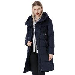 Пальто женское зимнее ветрозащитное утепленное, с подкладкой из хлопка
