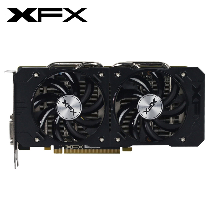 XFX R9 380 4GB Graphics Card AMD Radeon R9 380X 4GB Video Screen Cards GPU Board Desktop Computer Game Map Videocard Not Mining