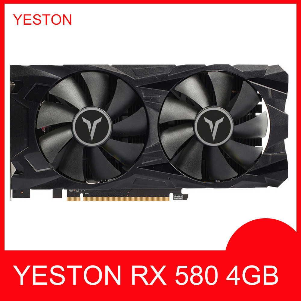 Video-Cards GPU Gaming-Graphics-Card RX580 Deskpot 4GB for Map 128bit title=
