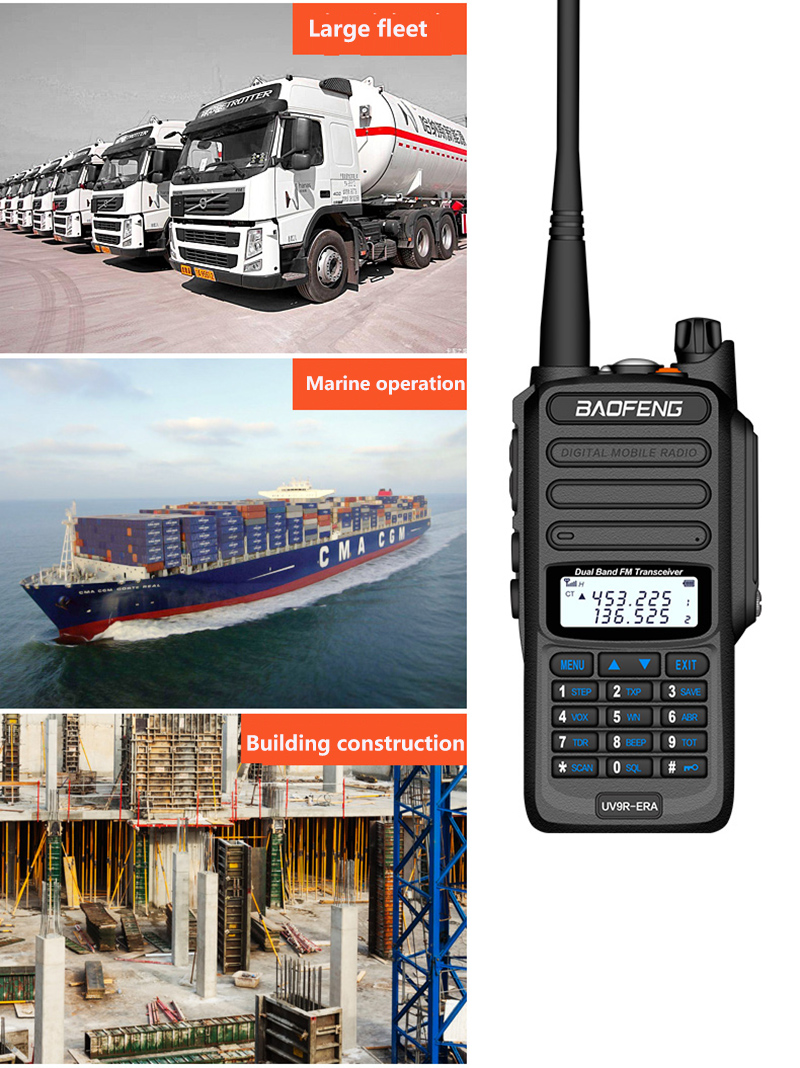 2019 BaoFeng UV-S9 Powerful Walkie Talkie CB Radio Transceiver 8W 10km Long Range Portable Radio for hunt forest city (16)