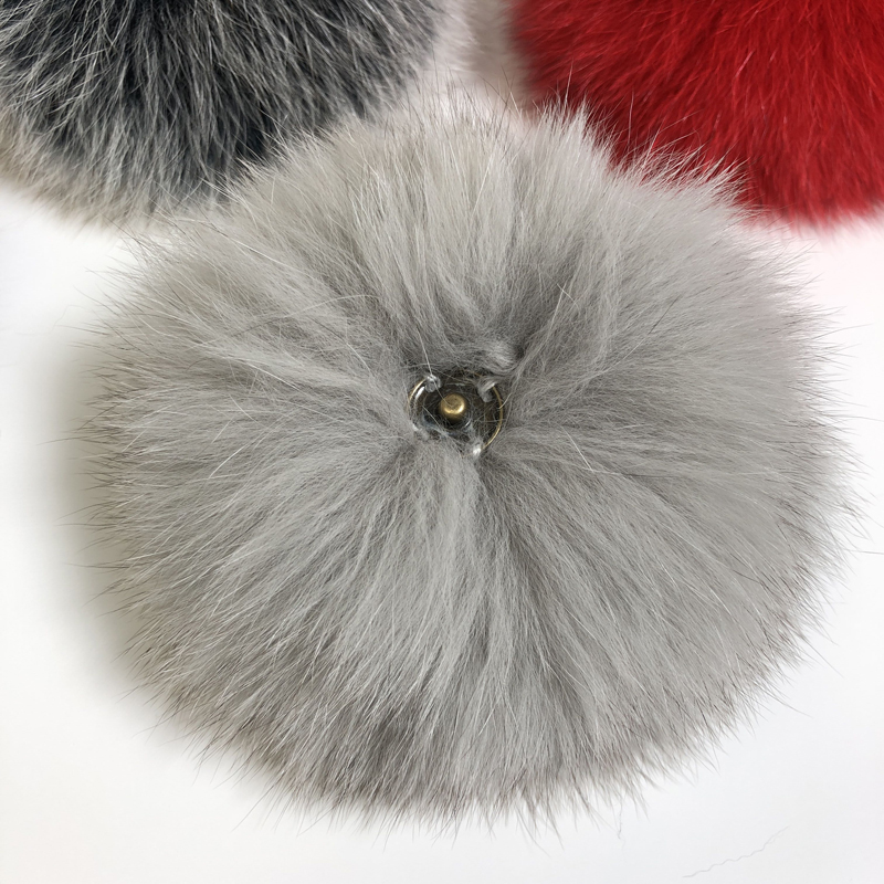 DIY Luxury Fur PomPom 100% Natural Fox Hairball Hat Ball Pom Pom Handmade Really Large Hair Ball Wholesale Hat With Buckle