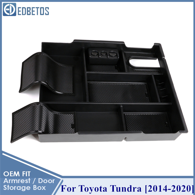 For Toyota Tundra 2014-2019 Center Console Organizer Armrest Storage Box Tray x1