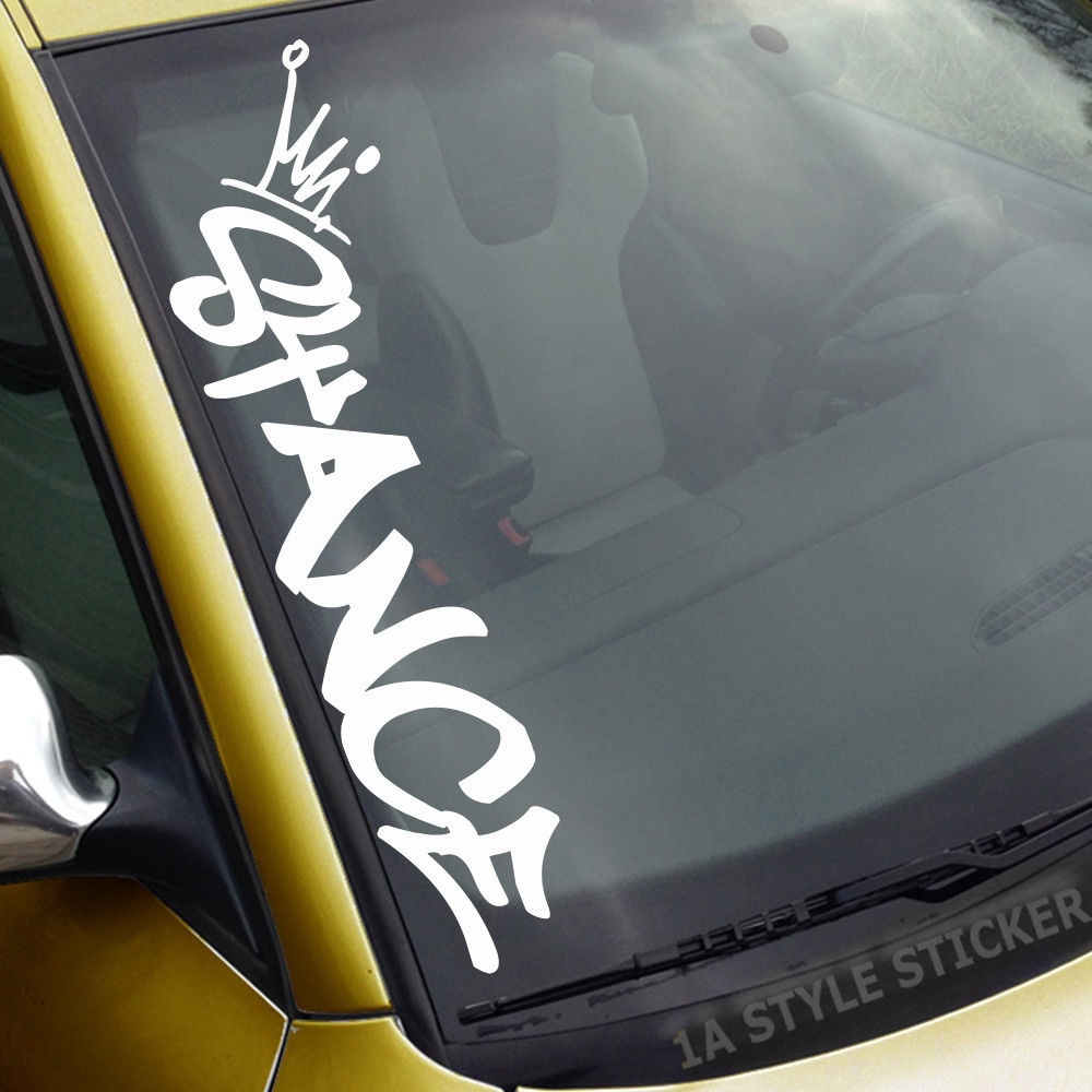Under Construction windshield royal stance car decal sticker front windscreen