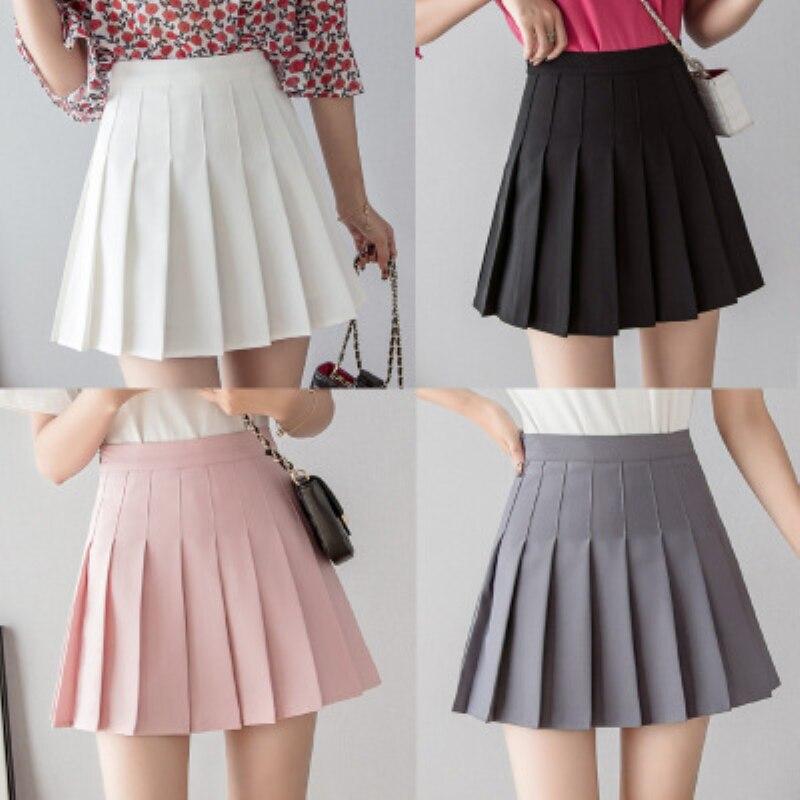 Women Short High Waist Pleated Skater Tennis Skirt School Uniform With Inner Shorts Sports Badminton Run Training Tennis Skirts-4