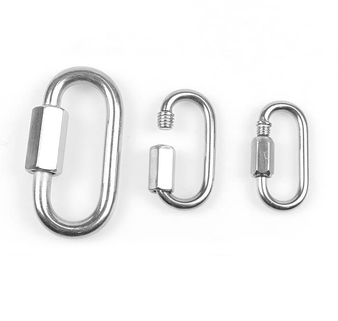 5 Pcs 4mm Quick Link Chain Fastener Hook Stainless Steel Joint Clamp