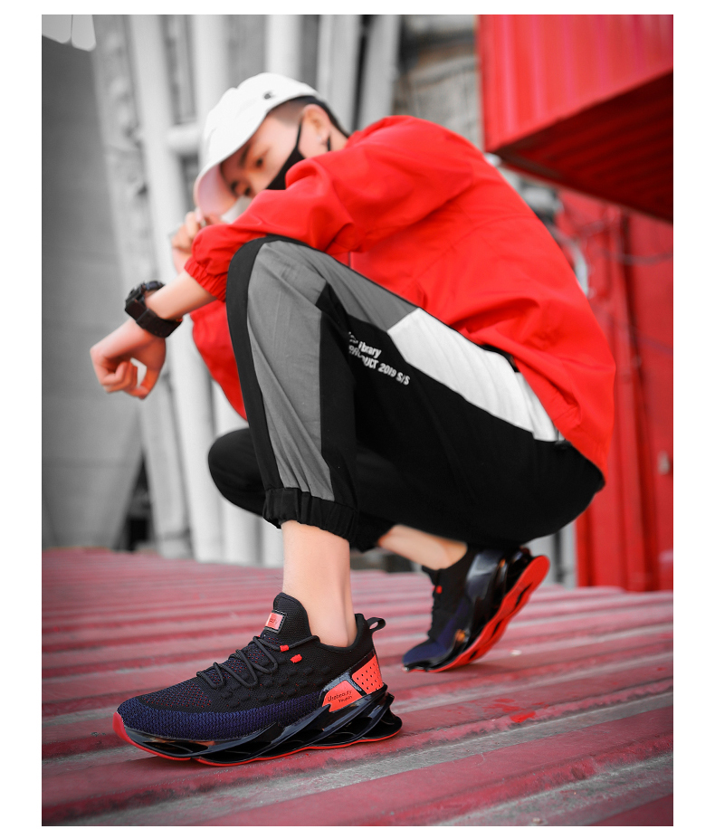 Trend  Blade Warrior Sports Shoes Shock Absorption Cushioning Running Shoes for Men Breathable Athletic Outdoor Walking Shoes