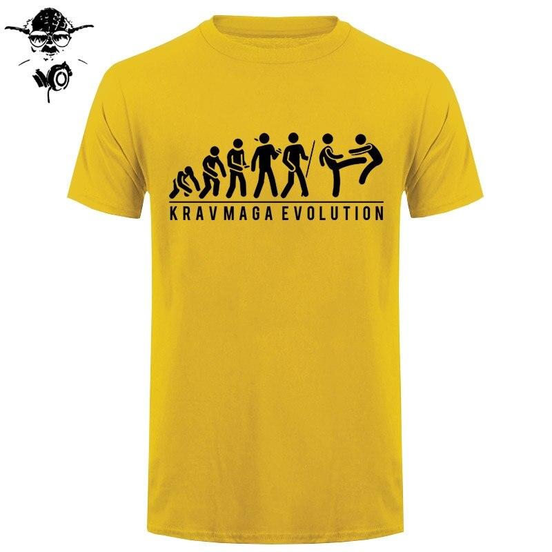 Funny Printed T Shirt Evolution Krav Maga Wing Chun Martial Art Present Joke
