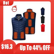Heated-Vest Warm Hunting Outdoor Sport Winter Women Jacke Hiking 8-Areas Camping And