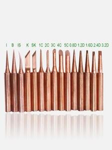 SZBFT Soldering-Iron-Tip 898D T-Copper 852D Lead-Free 900m 15kinds Diamagnetic