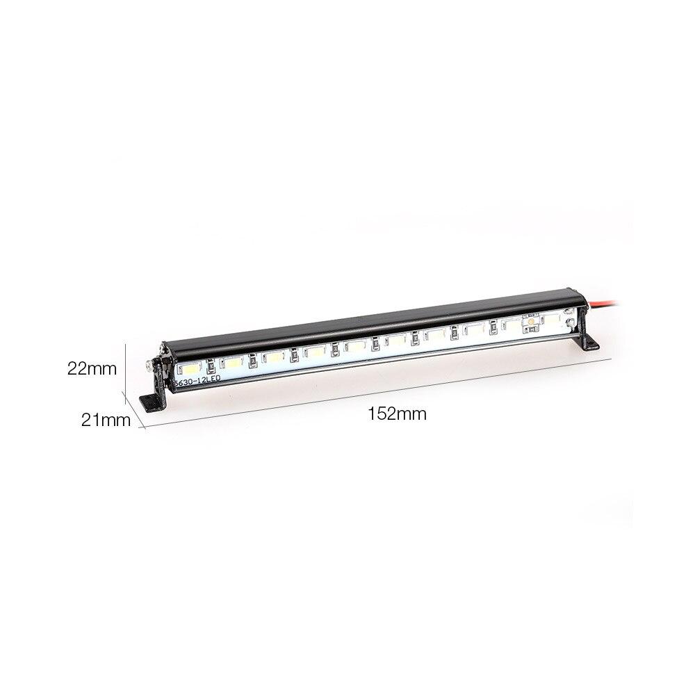 Metal Roof Lamp LED Light Bar for RC Car 110 RC Crawler Traxxas Trx-4 SCX10 90027 SCX10 II 90046 RC4WD D90 Car Truck Part (1) -