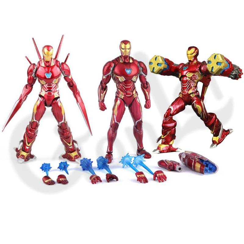 Iron Man Tony Stark Action Figure Kids Toys Infinity PVC 16cm Avengers Model New