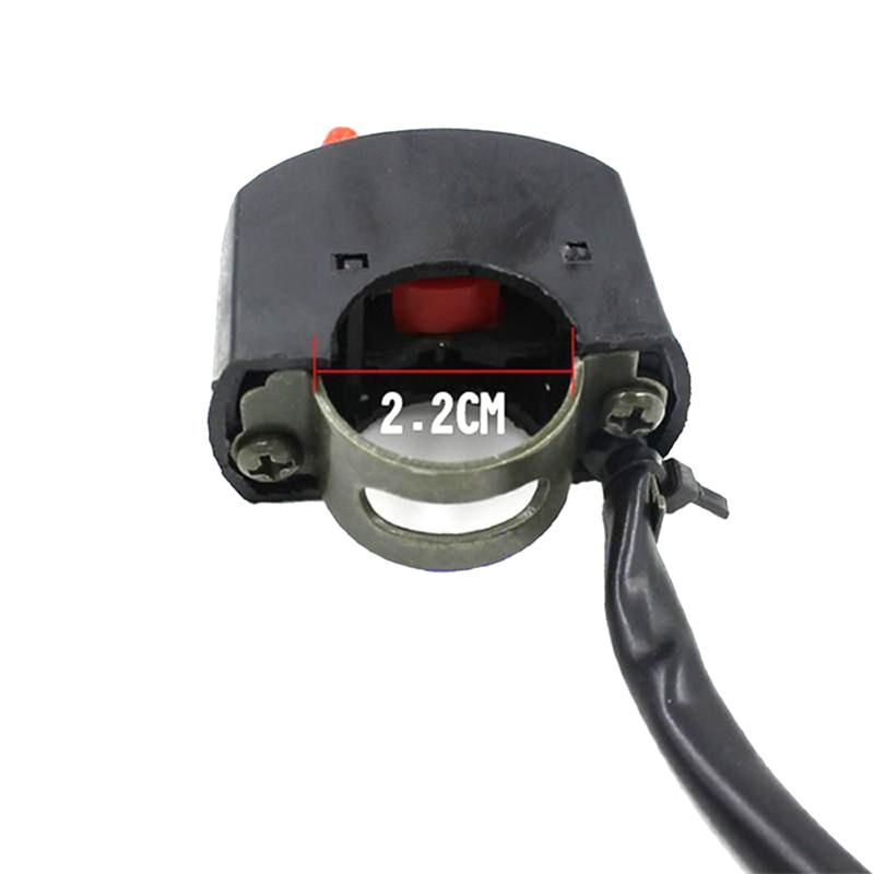 Motorcross ATV Handlebar AccidentHazard Light Double Control Switch Button