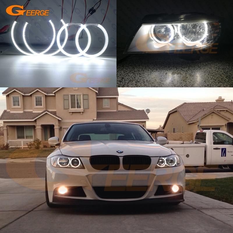 For E90 E91 335i 328i 06-11 C LED Crystal Angel Eye Switchback DRL Turn Signal