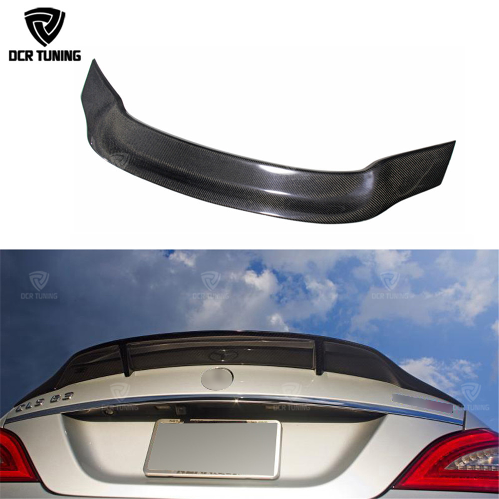 For Mercedes-Benz CLS Class W218 2012-2018 RT Carbon Fiber Rear Spoiler Refit