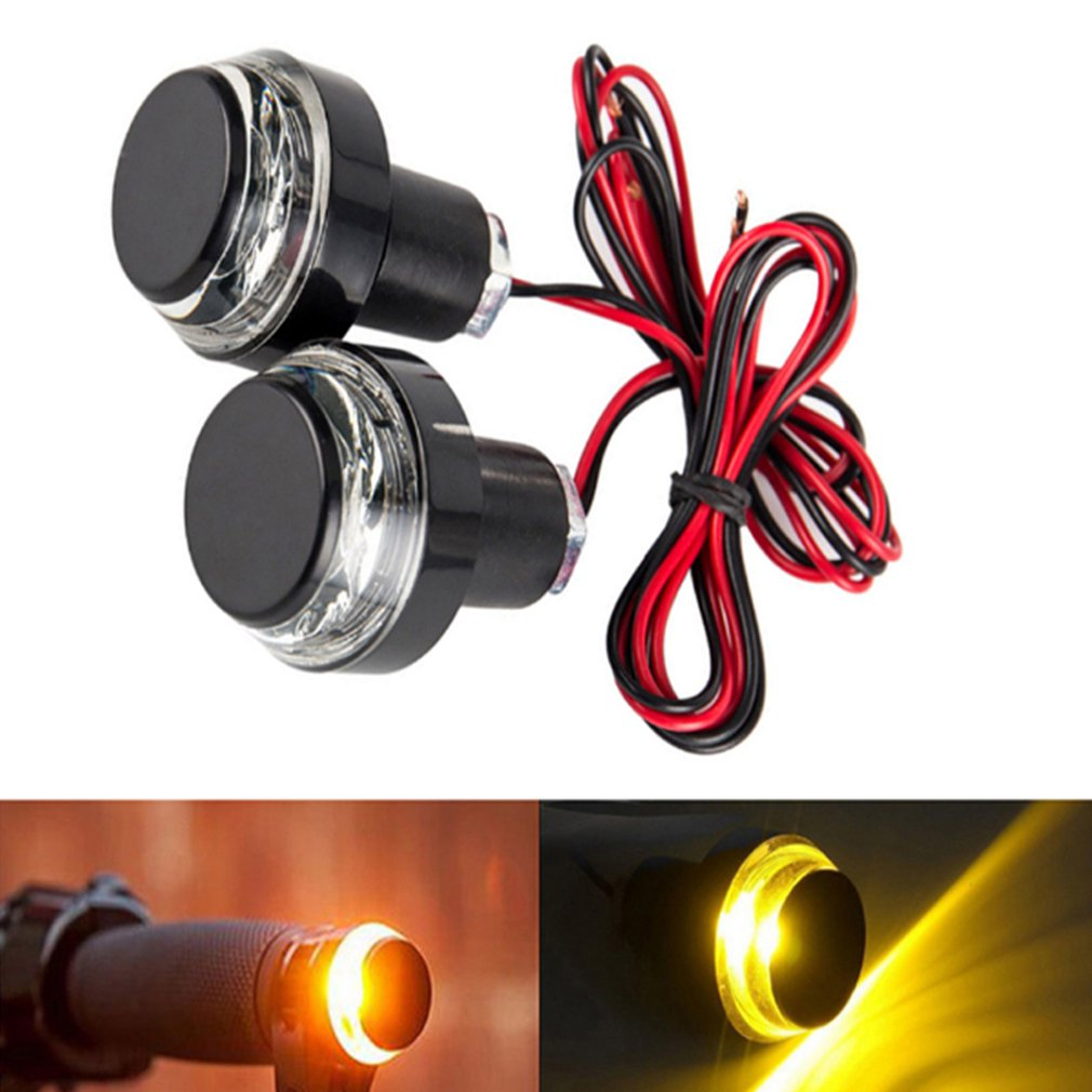 Light-Lamp Motorbike-Handle Led-Turn-Signal-Light Modified Direction Grip-Side New End title=