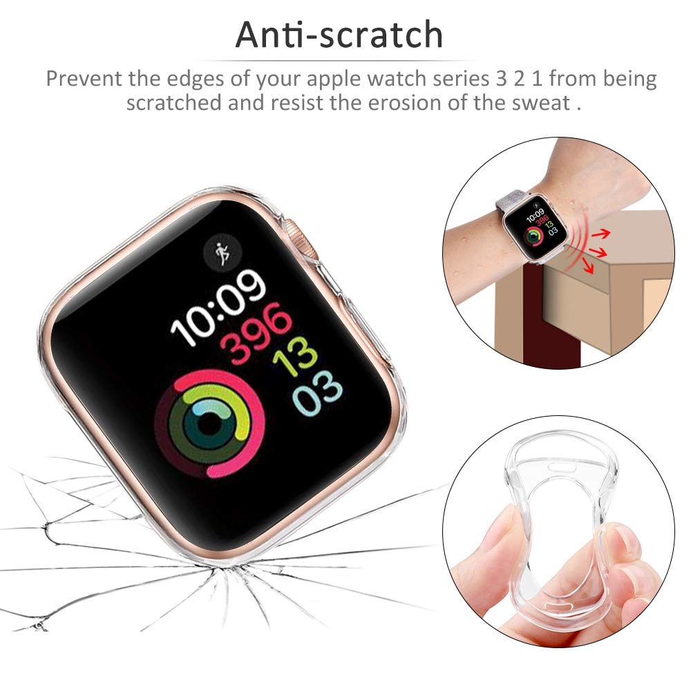 Watch Cover Case For Apple Watch 6 5 4 40mm 44mm Scratch Silicone Soft Cases For iWatch Series 3 2 42mm 38mm Accessories