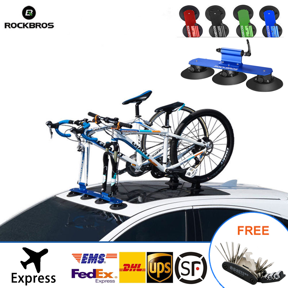 ROCKBROS Bike Roof Rack Quick Suction Easy Installation Roof Carrier For 2 Bikes