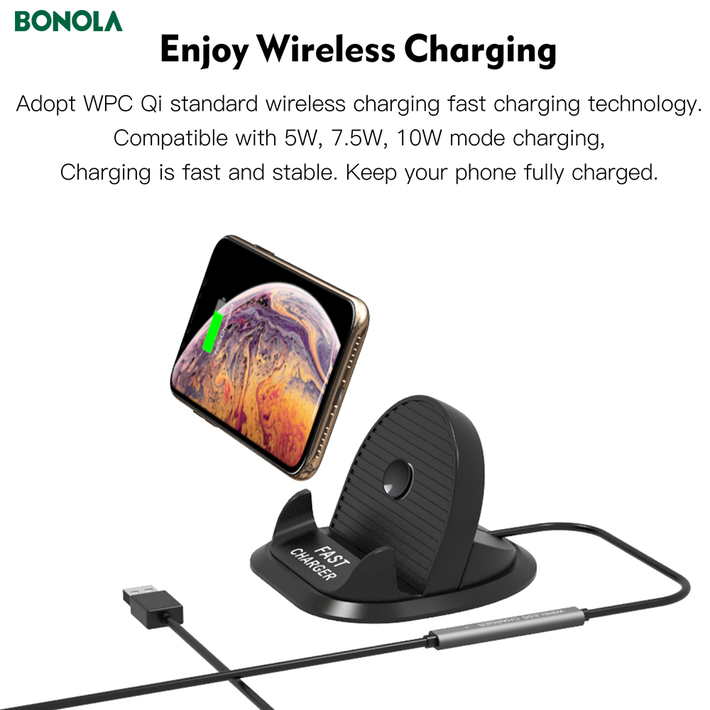 Bonola Fast Wireless Car Charger For iPhone11proXs Coil And PBC Motherboard Separate 10W Qi Car Phone Holder Wireless Charger  (7)