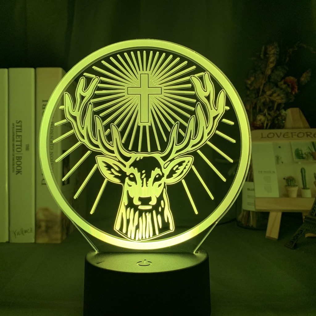 Details about  /Acrylic Led Night Light Jagermeister 16 Colors Changing Lamp Bedroom Decor Gift