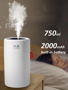 Diffuser Light-Umidificador Essential-Oil Ultrasonic-Aroma Large-Capacity Rechargeable
