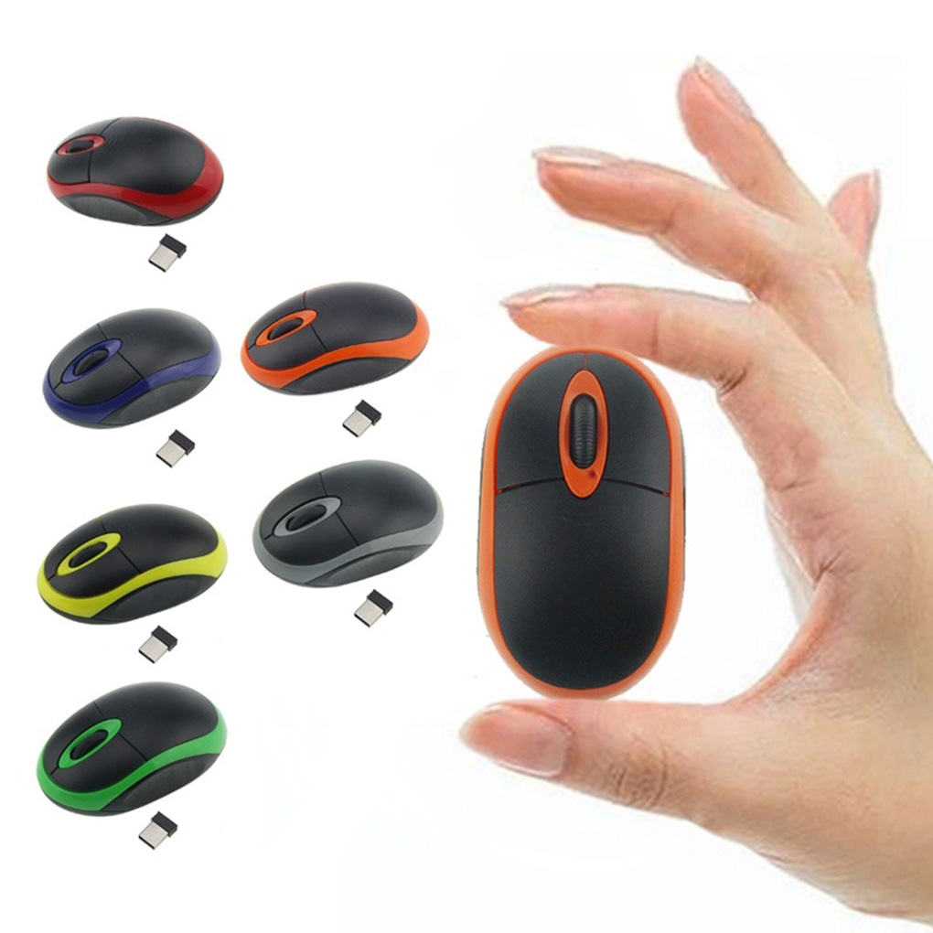 Laptop Mouse Computer Optical-Mice Cordless Colorful Mini Office PC 2 title=