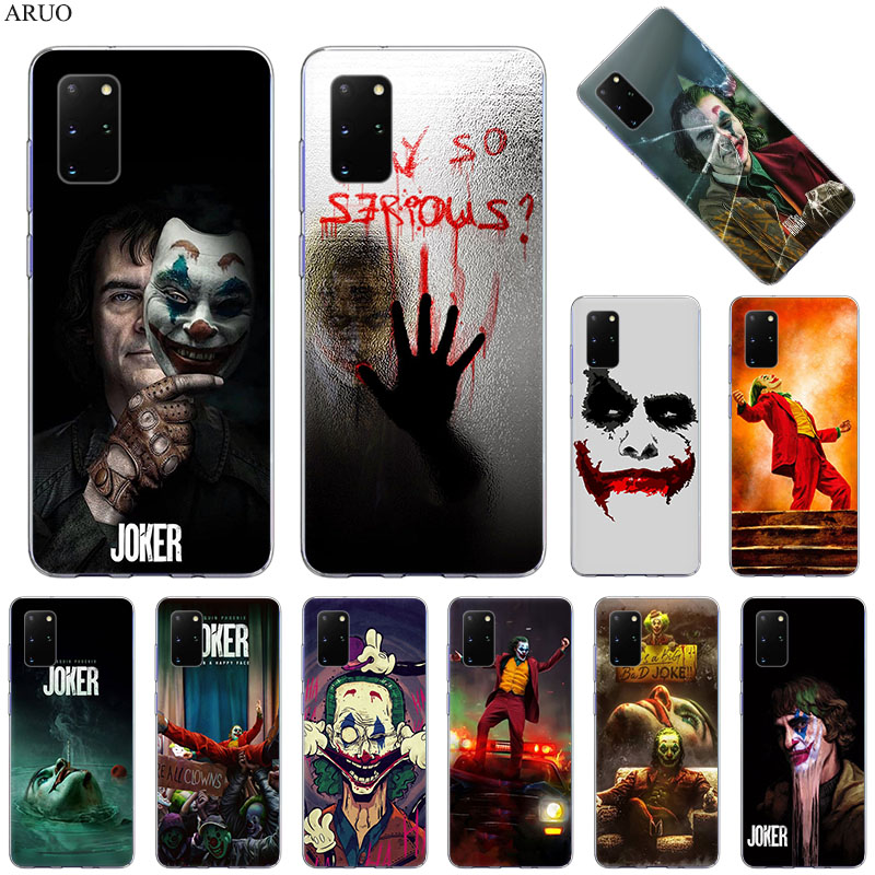 Phone Case For Samsung S20 Ultra S10 Lite S9 S8 The Joker Why So Serious Cover for Samsung Note 20 10 Pro 9 8 Soft Silicone Case